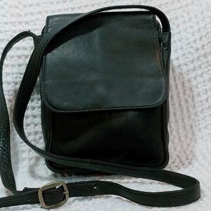 Hobo Black Leather Crossbody